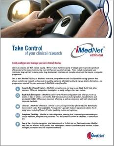 iMedNet eClinical Data Sheet